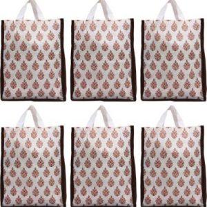 Non Woven Eco-Friendly Reusable Multipurpose Shopping Carry Bags – (6 Pieces)