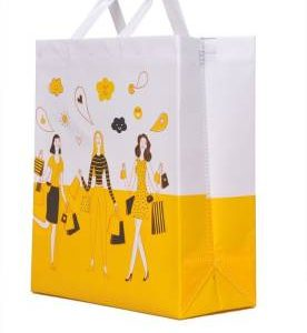 knack packaging with logo Happy Shopping Bag | Reusable | Recyclable | Multi Purpose Non Woven Bag – (10 Bags)