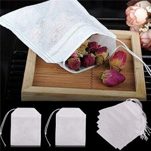 HASTHIP 100 pcs/Lot New Non-Woven Fabrics Empty Tea Bag with String Heal Filter Paper
